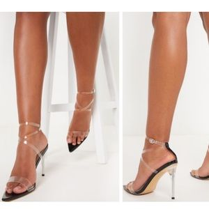 Point Toe Clear Strappy Sandal